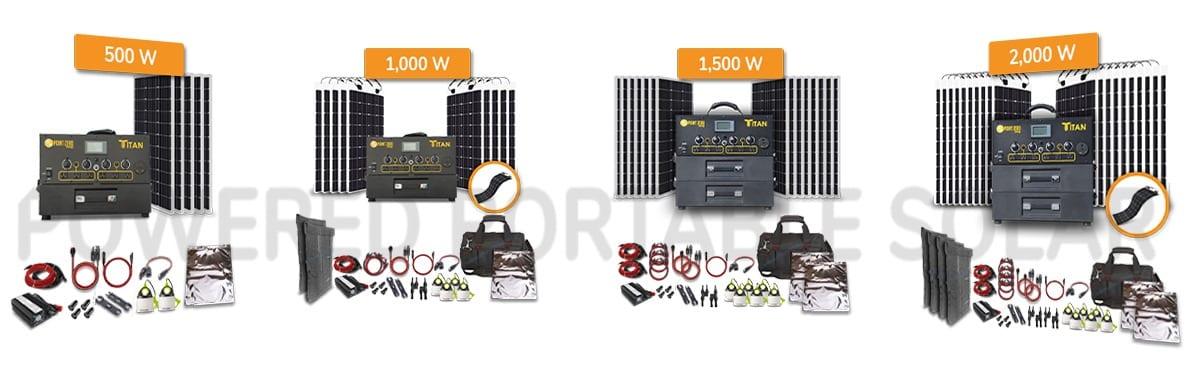 titan solar generator kits