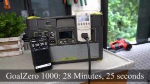 Goal Zero Lithium 1000 Load Test