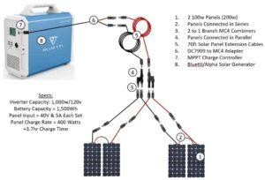 Bluetti Alpha Connection Diagram