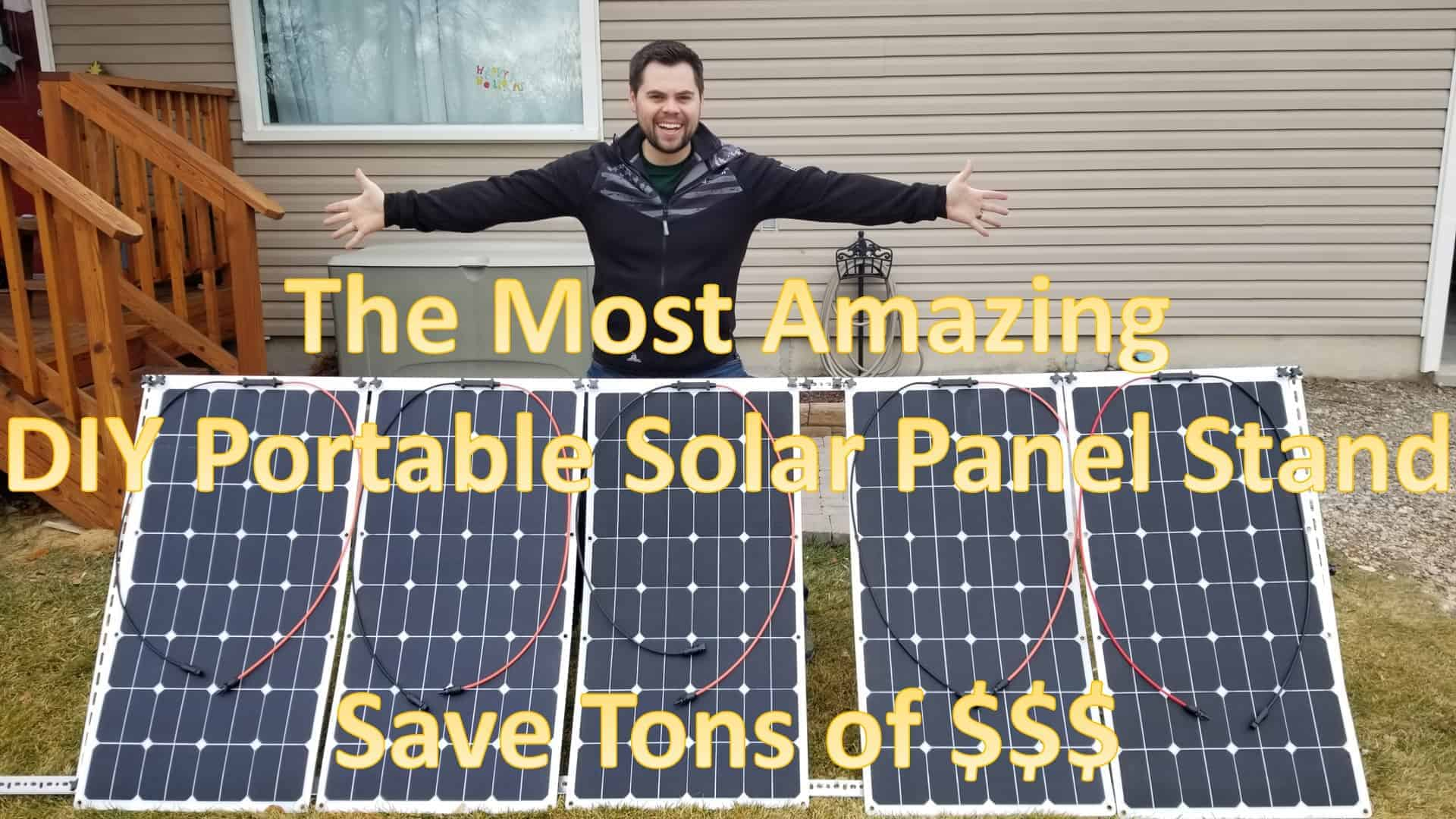 DIY Portable Solar Panel Stand Mount Very Affordable Thumbnail