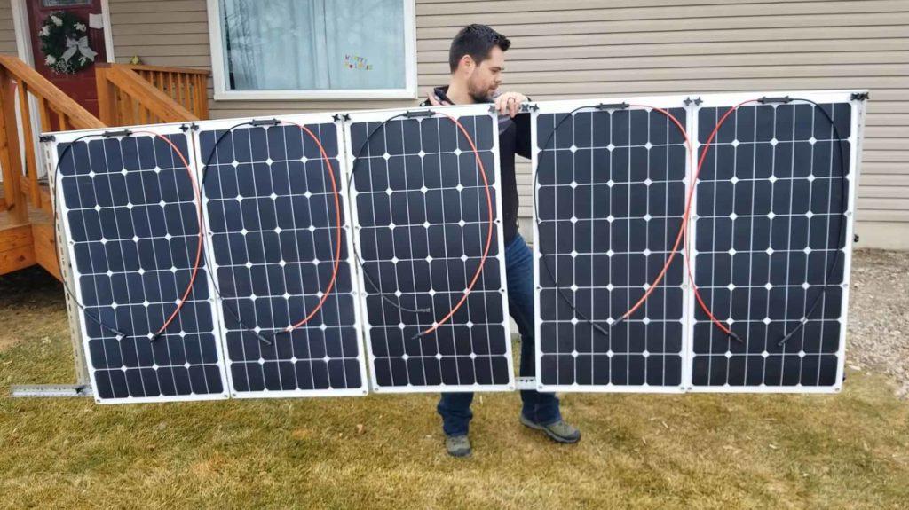 Portable Solar Panel Stand