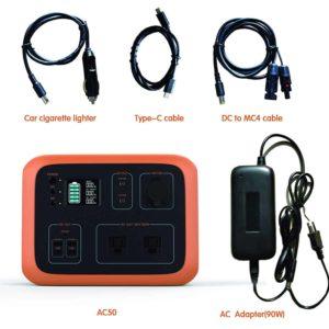 MAXOAK AC50 Accessories Included