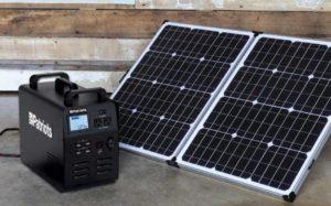 Patriot 1800 with 100 watt solar panel