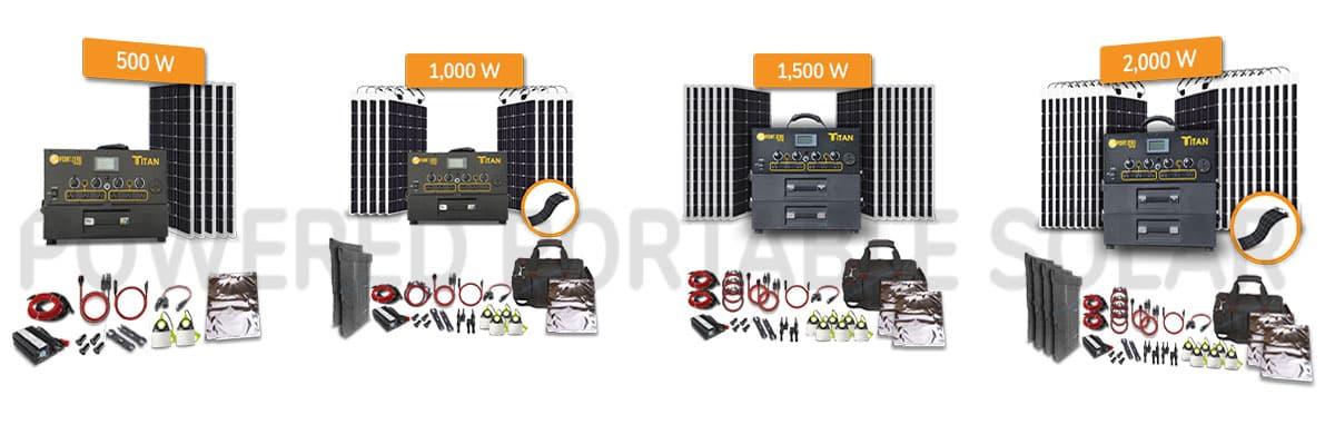 titan solar generator solar kits for RV