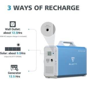 Bluetti EB240 Portable Power Station (2400WH/1000W)
